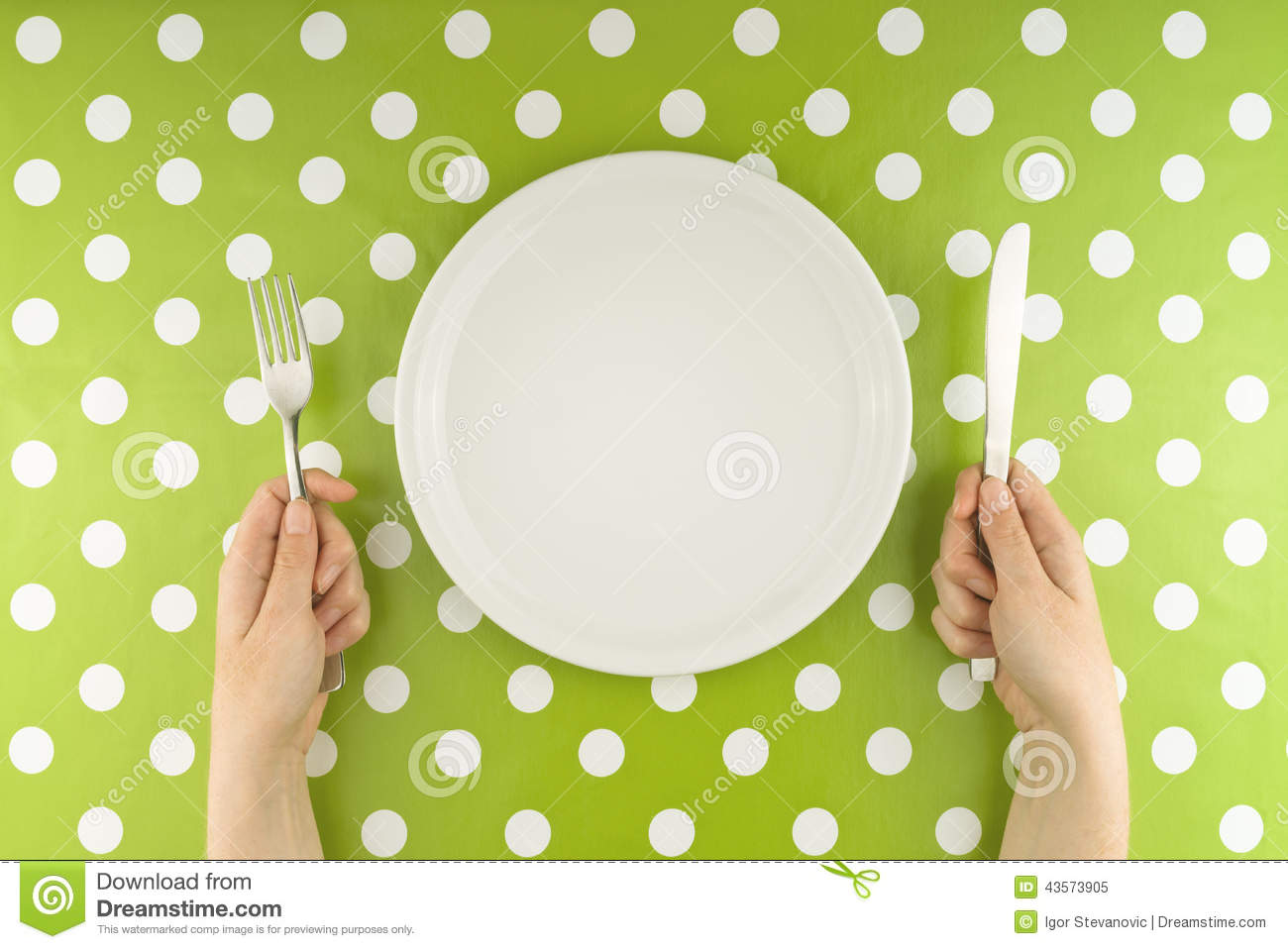 Hands At The Table With Empty Set Stock Photo - Image ... Table Knife Clipart