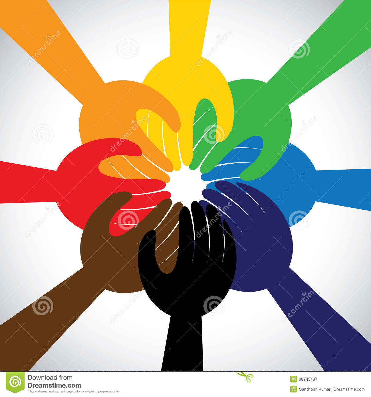 Hands Taking Pledge, Promise - Concept Vector Stock Vector ...