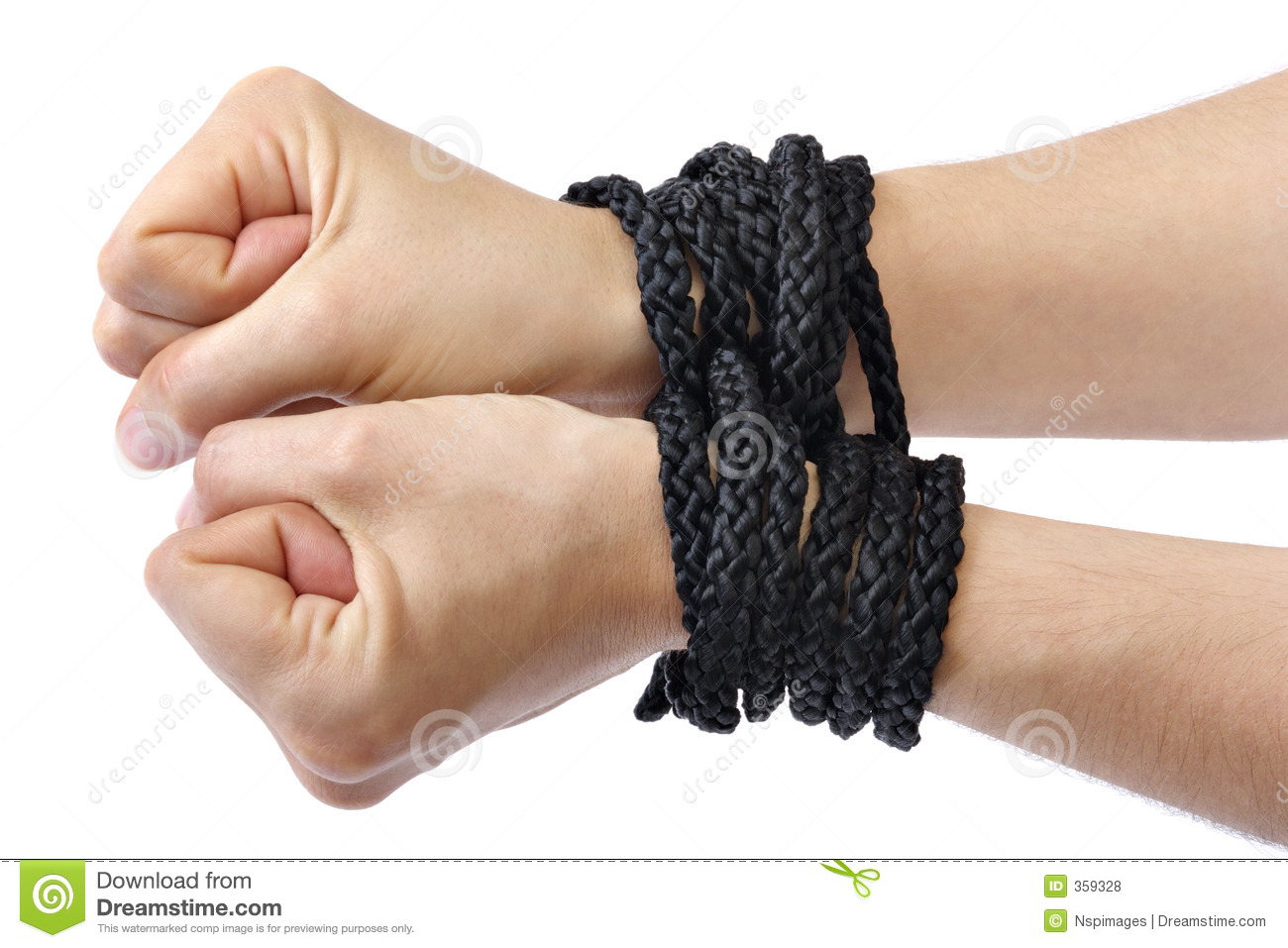 Hands Tied Royalty Free Stock Photos - Image: 359328