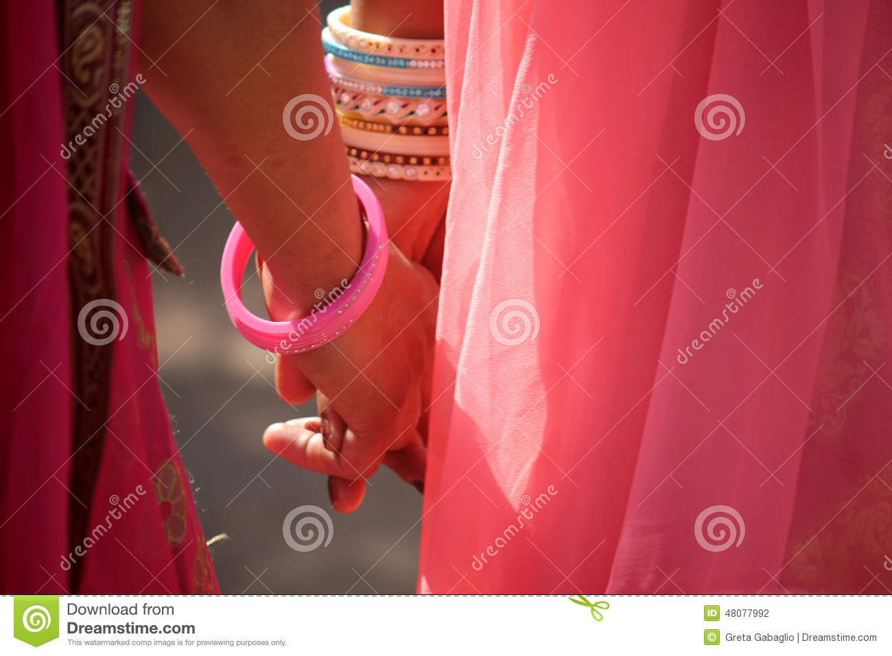 Bangles Girls Hand Stock Photos - Royalty Free Pictures