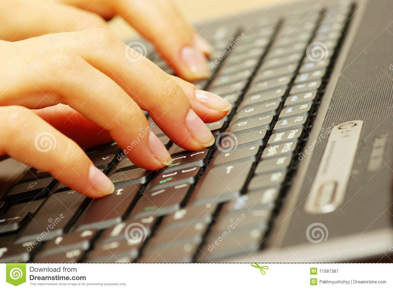 Typing On Keyboard Hands Typing On Keyboa...