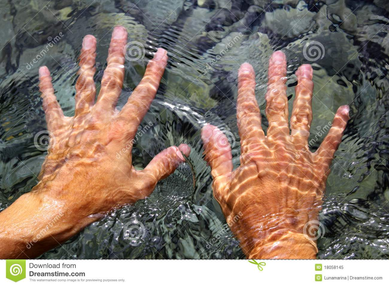 Hands Underwater River Water Wavy Shapes Royalty Free Stock Photo ...