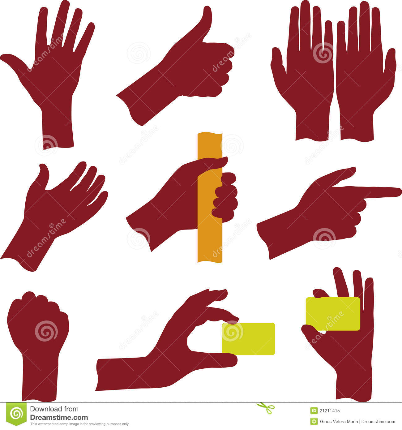 Hands (vector) Royalty Free Stock Photo - Image: 21211415