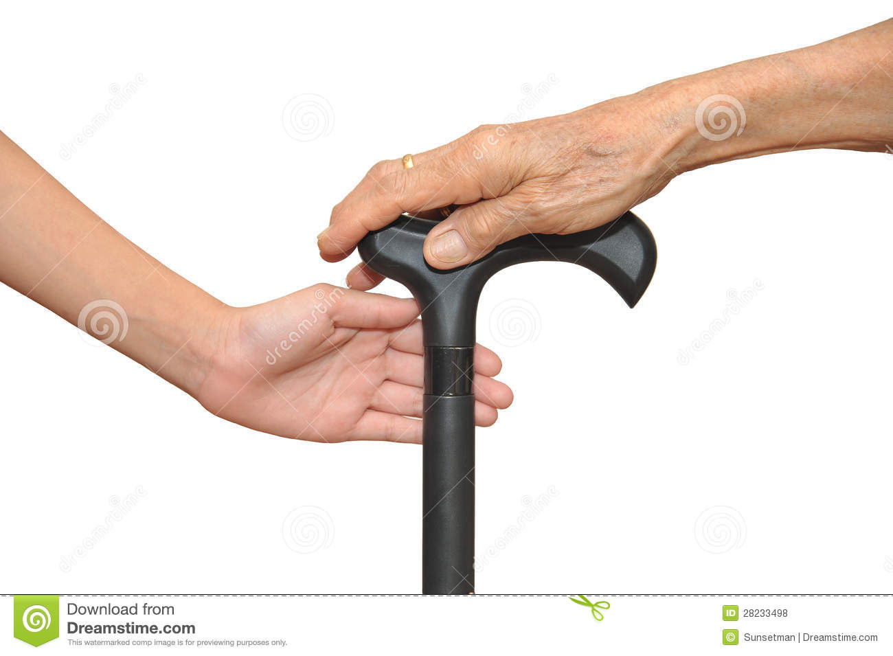 Hand Holding Stick ~ Hands on walking stick royalty free stock photos image