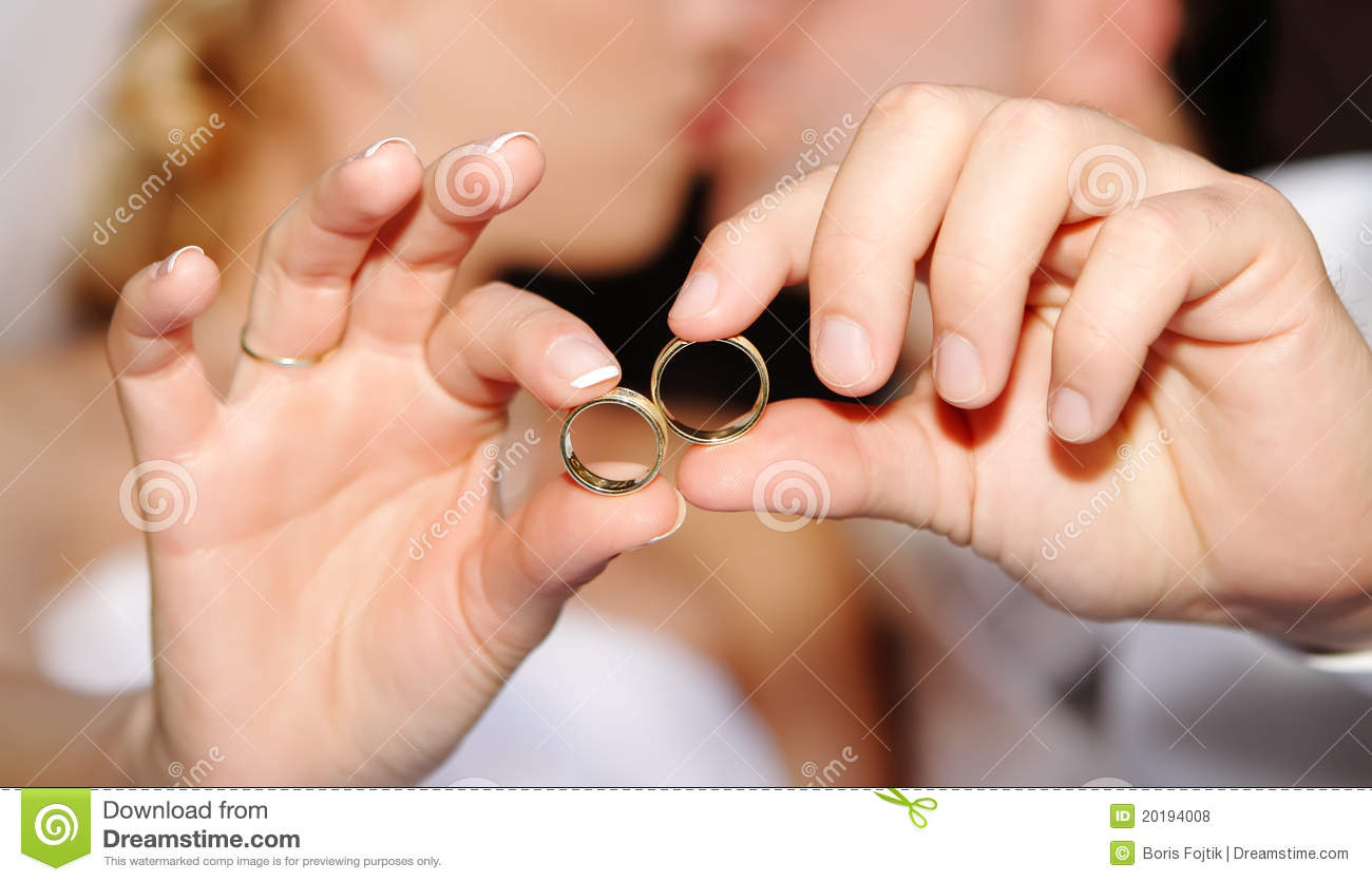 Hands With Wedding Rings Stock Photo Image Of Part Happiness