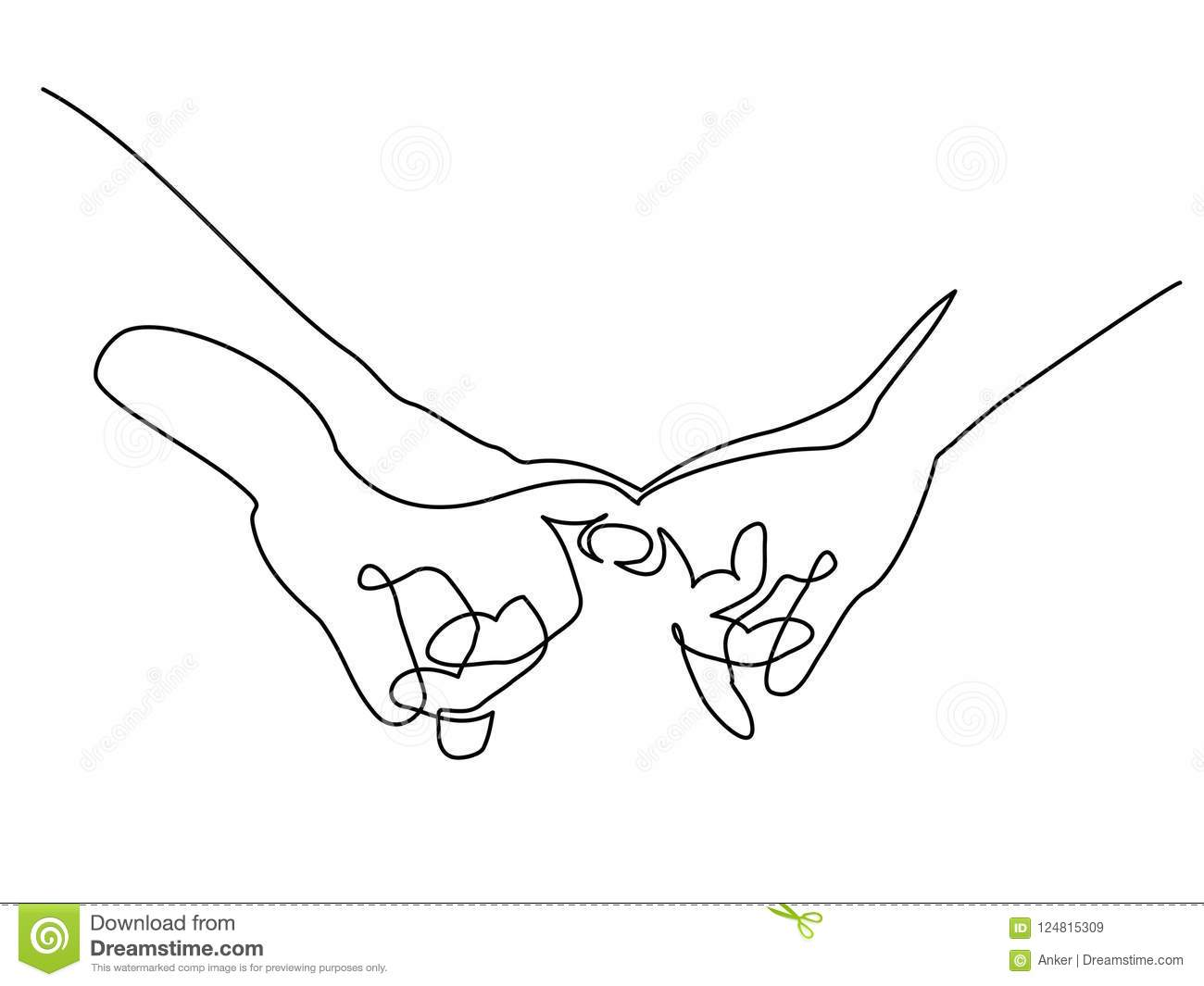 Hands Woman And Man Holding To her With Fingers Stock Vector