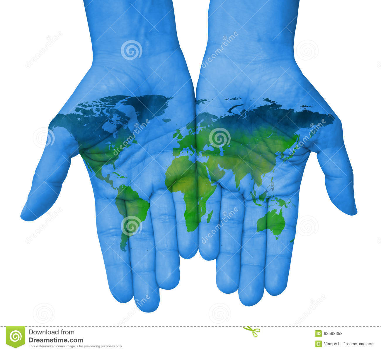 Hands with world map map of the world drawn stock illustration hands with world map map of the world drawn gumiabroncs Images