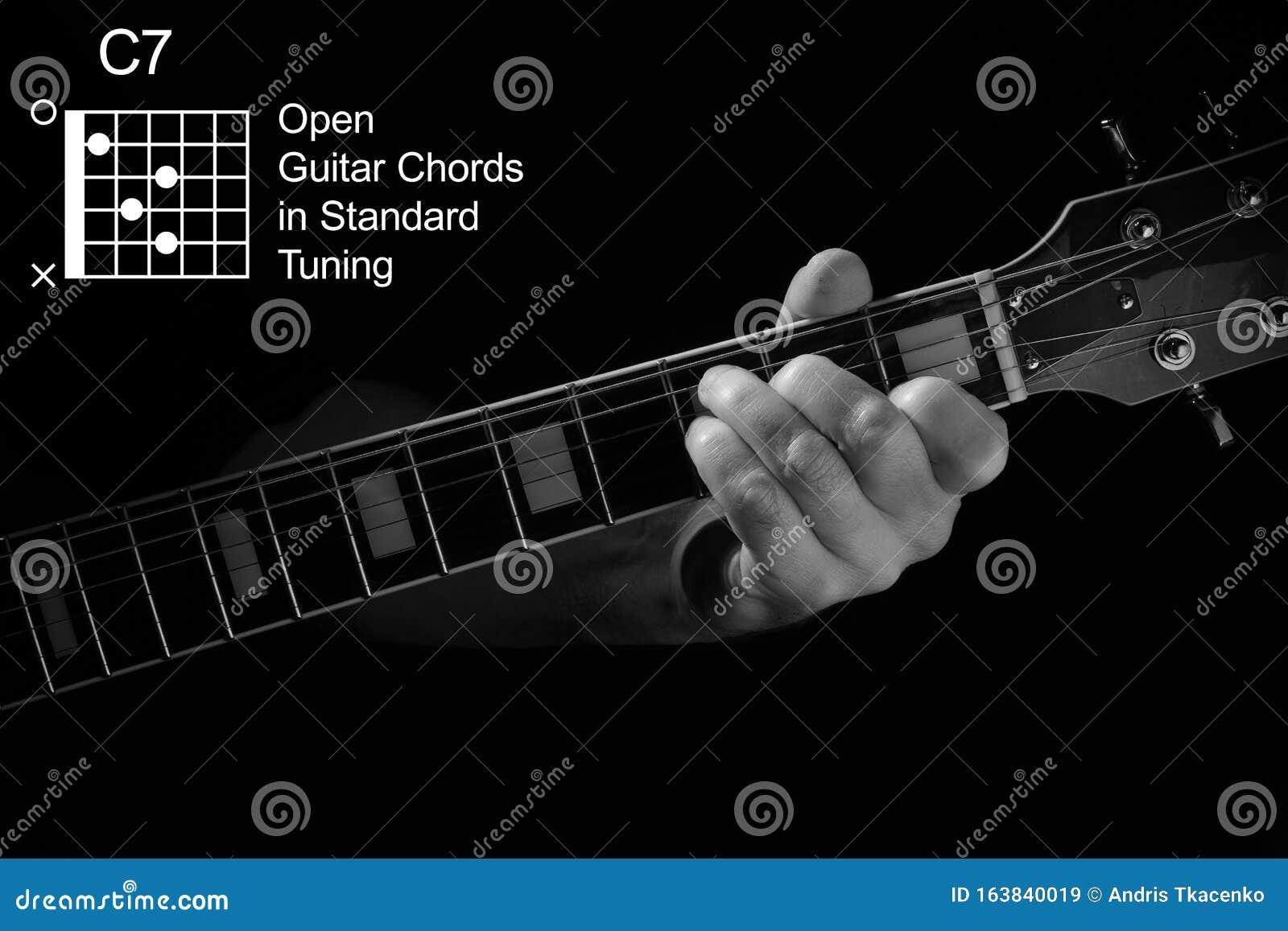 Handschließung Mit C15 Akkord Auf Gitarre Stockbild   Bild von ...