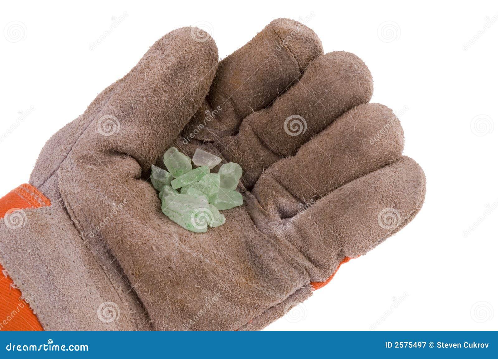 Handschoen met gemmen
