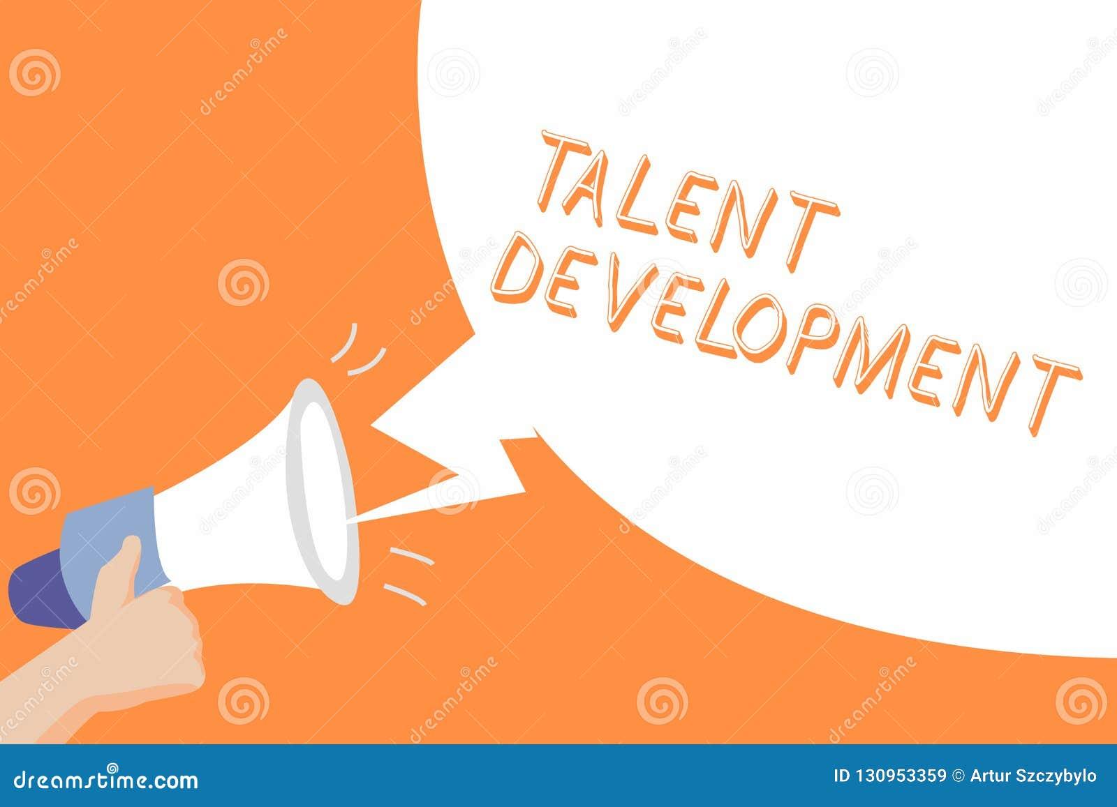 Handschriftstext Talent-Entwicklung Konzeptbedeutung Gebäude-Fähigkeits-Fähigkeiten, die möglichen Führer verbessern