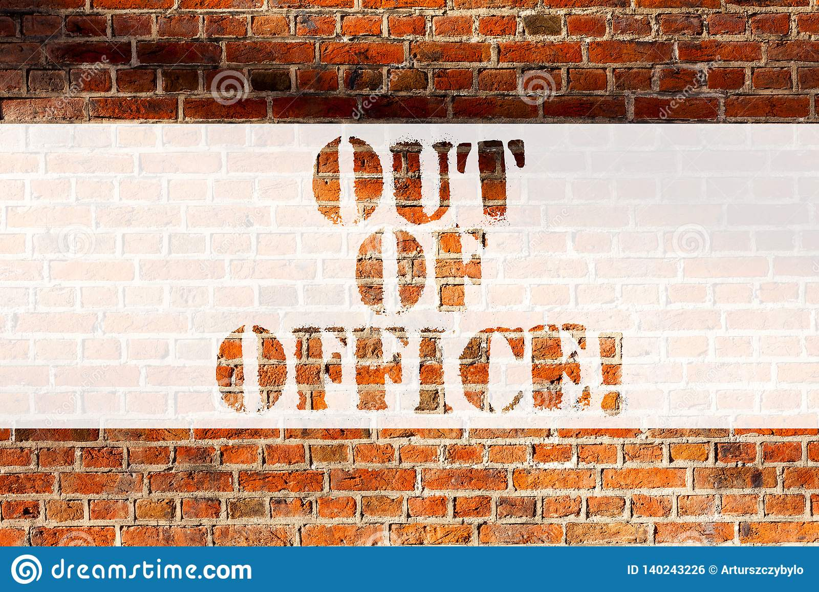 Handschriftstextausschreiben des Büros Konzeptbedeutung außerhalb des Jobs niemand in der Geschäft Bruch-Freizeit entspannen sich