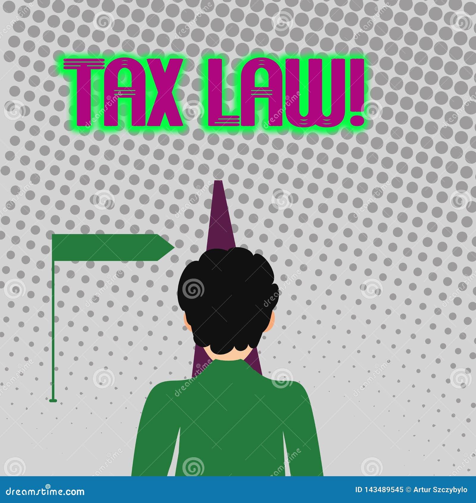 Handschrifttekst het schrijven Belastingwetgeving Concept die regeringsbeoordeling betekenen op eigenschapswaarde of van de trans