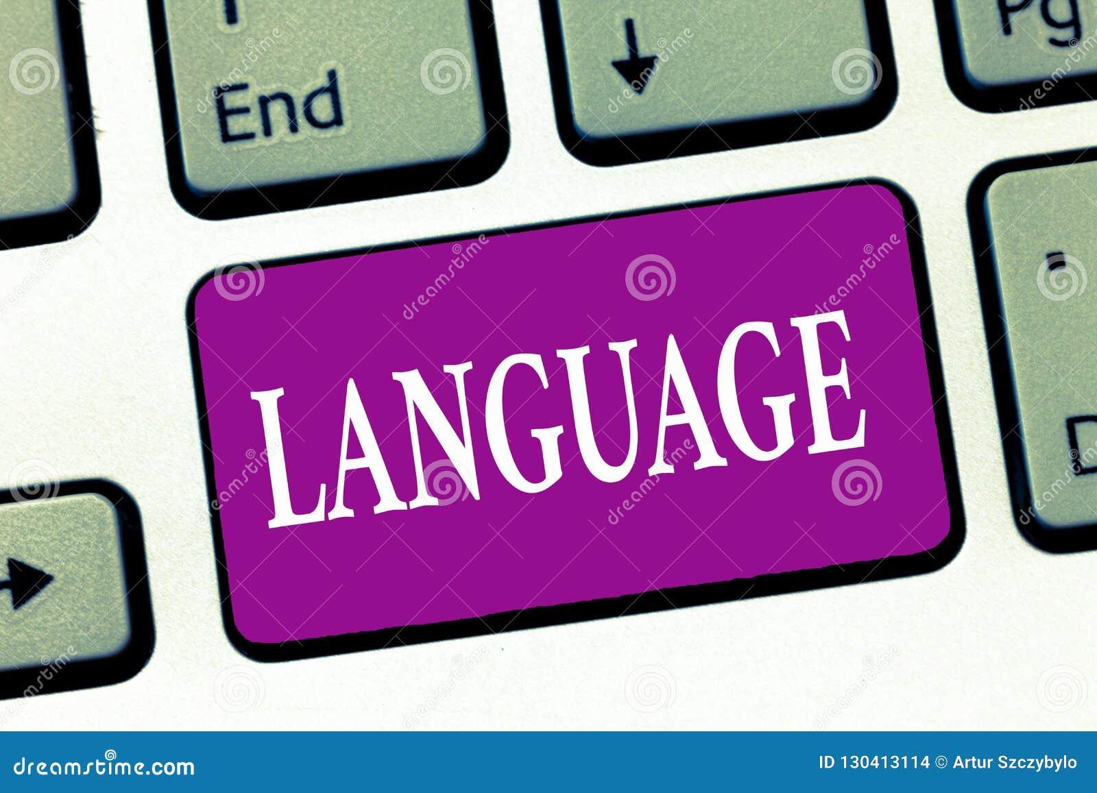 Handschrifttekst het schrijven Taal Concept die de mededeling van methodehuanalysis één van beide betekenen het gesproken geschre