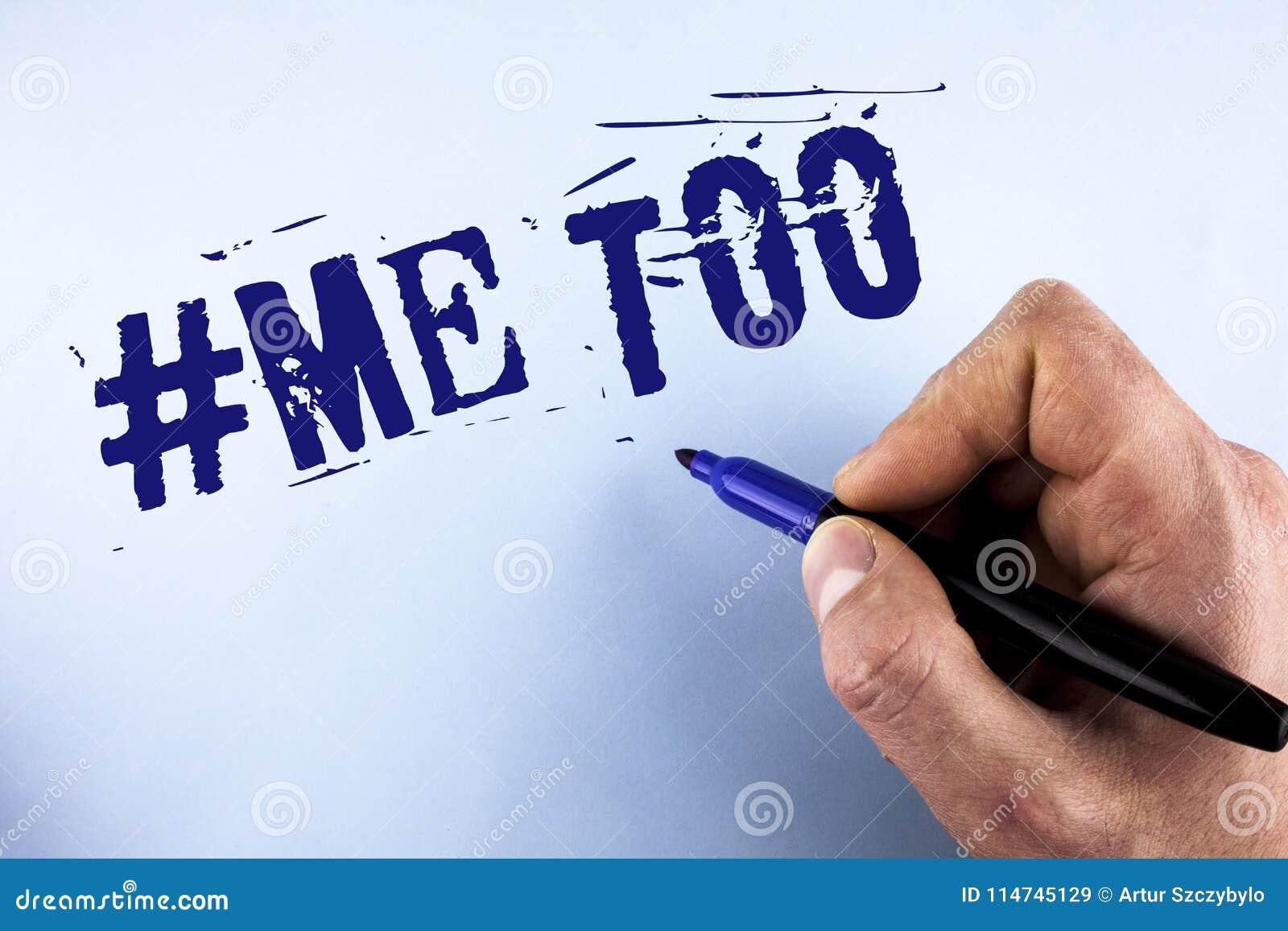 Handschrifttekst me ook De conceptenbetekenis groeit sterk en moedig genoeg die misbruik, kwelling, aanval te melden door de Mens