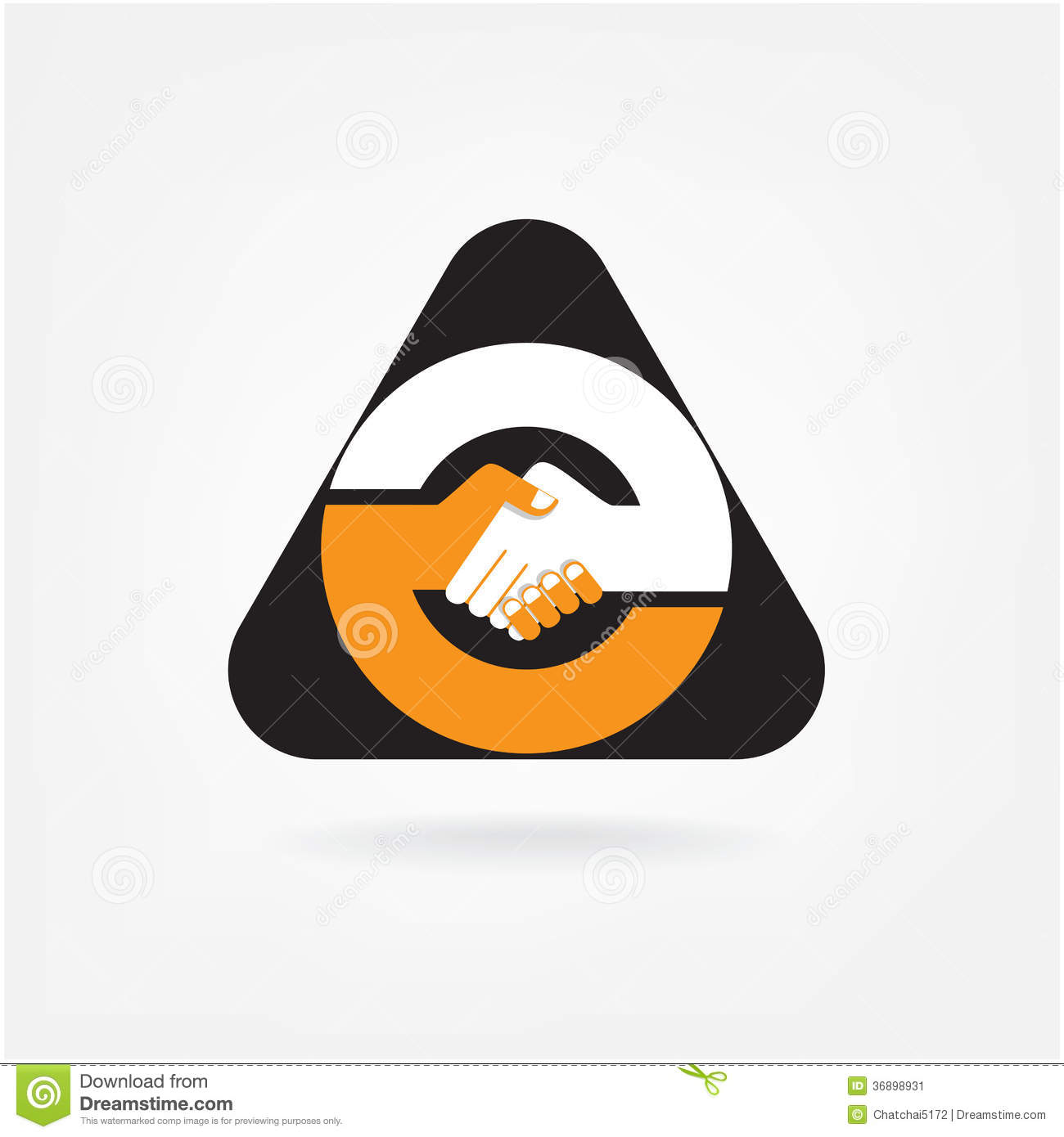 Handshake Abstract Sign Vector Design Stock Image Image