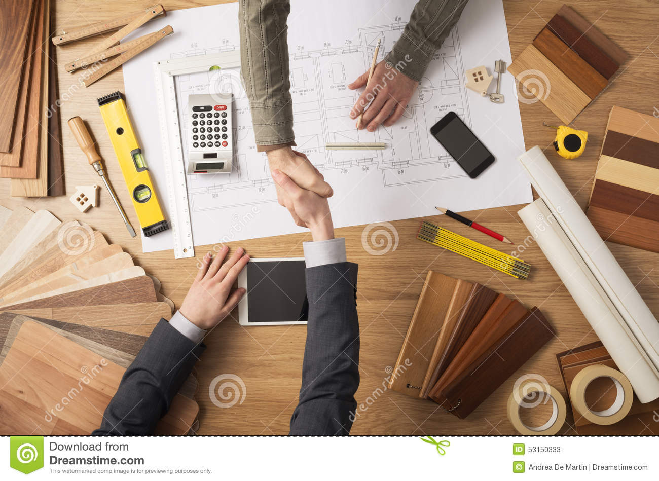 Download Handshake stock image. Image of improvement, cooperation - 53150333