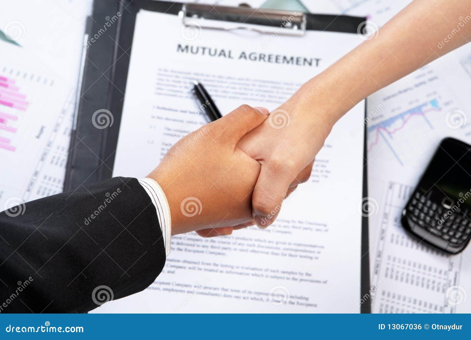 Handshake Btween Busin...