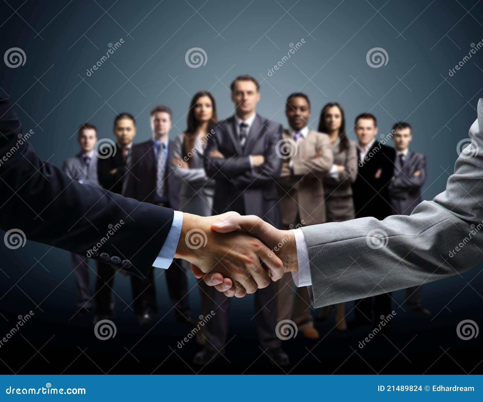 Handshake on business