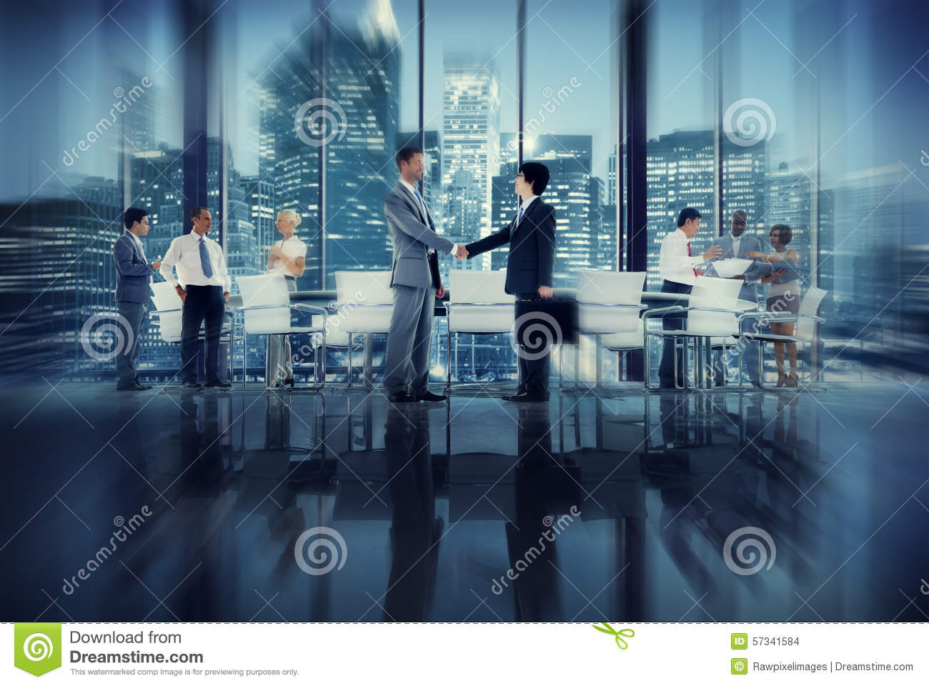 Handshake Business People Team Teamwork Meeting Conference Conce ...