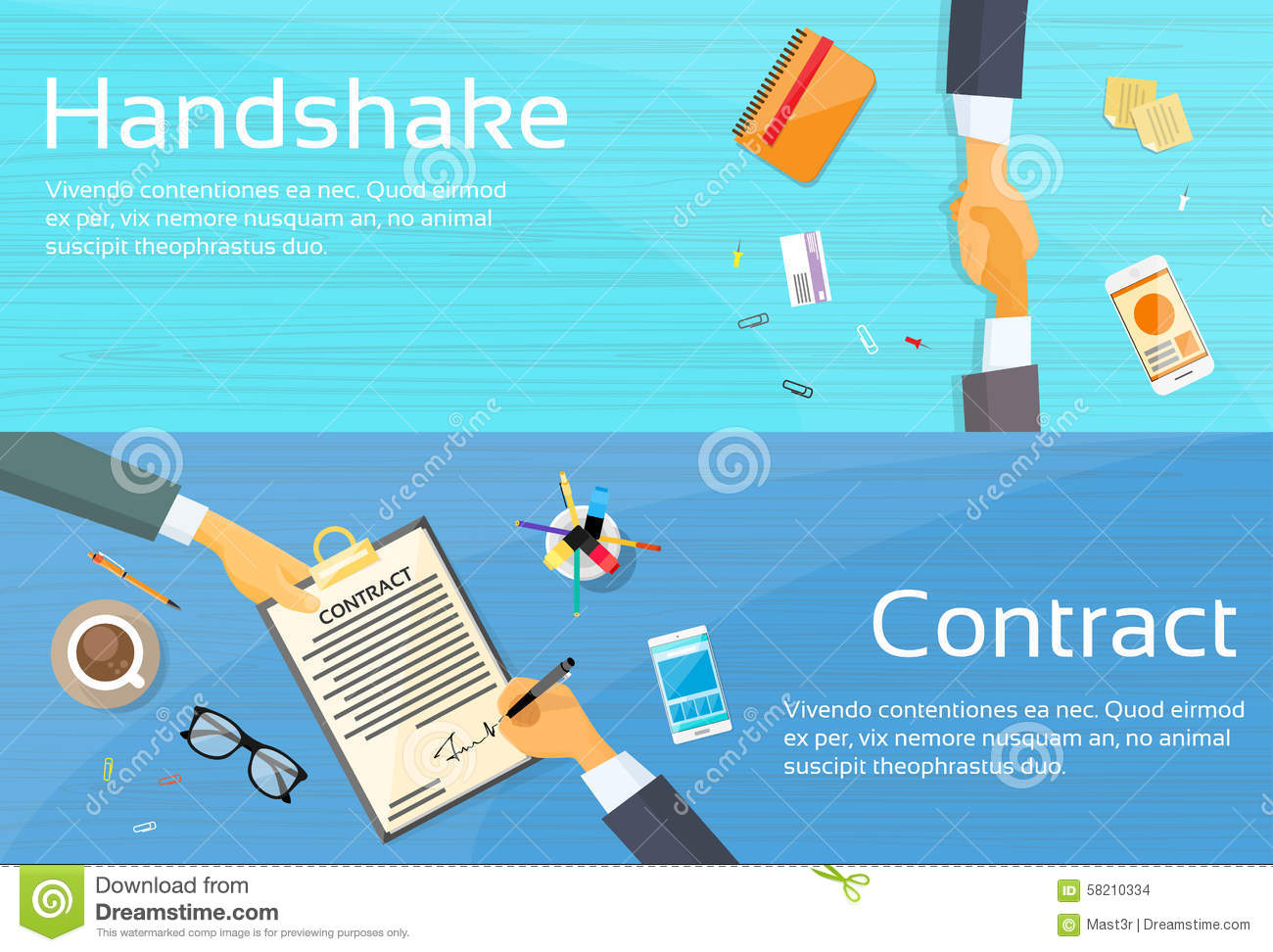 Handshake Businessman Contract Sign Up Paper Stock Vector ...