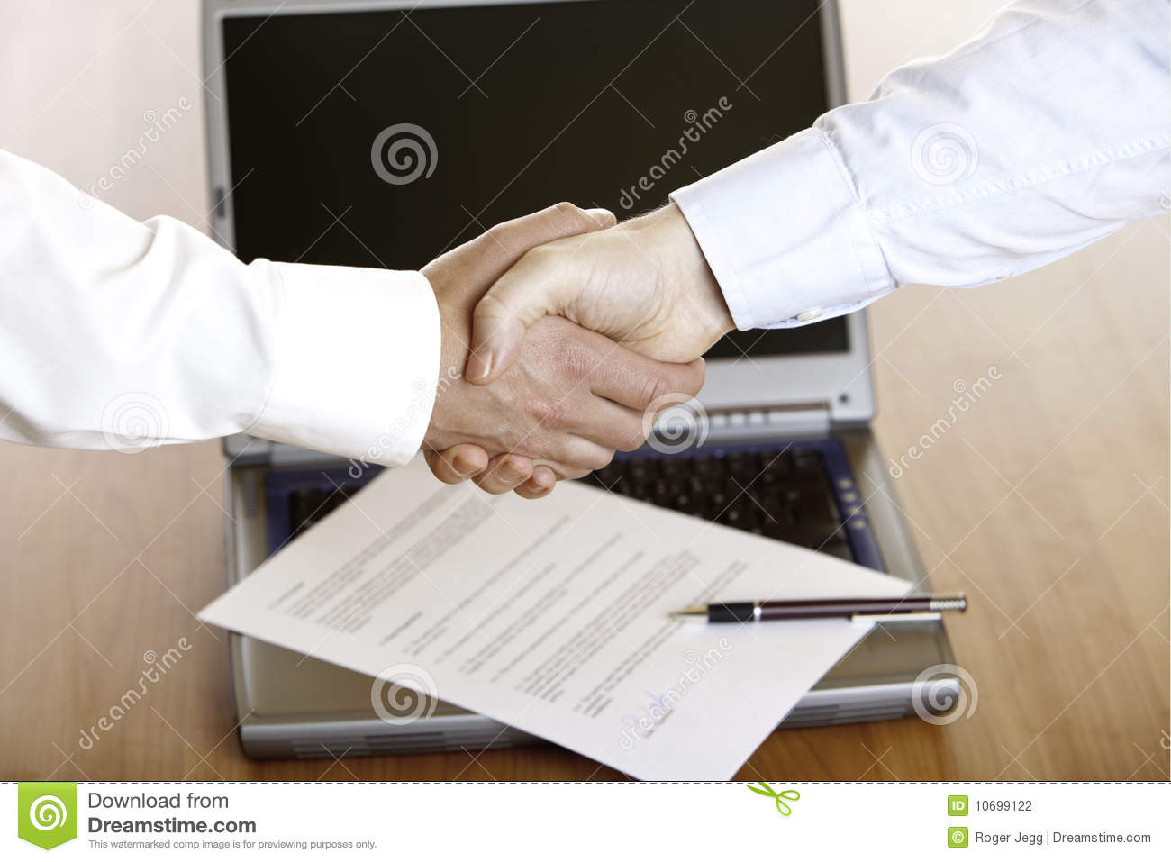 Handshake Of Businessman After Signing Of Contract Stock Photography ...