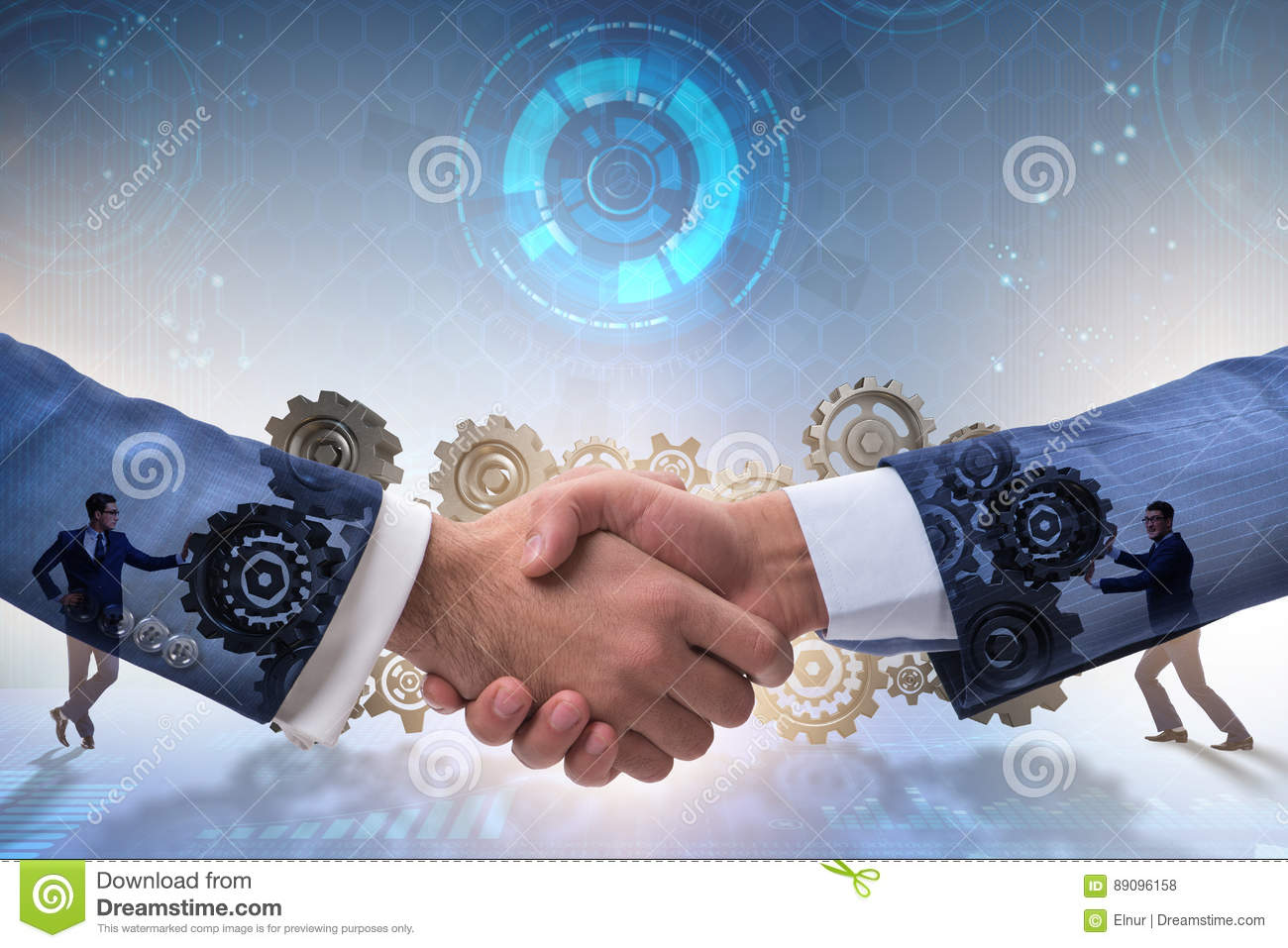 The handshake concept - business metaphor illustration