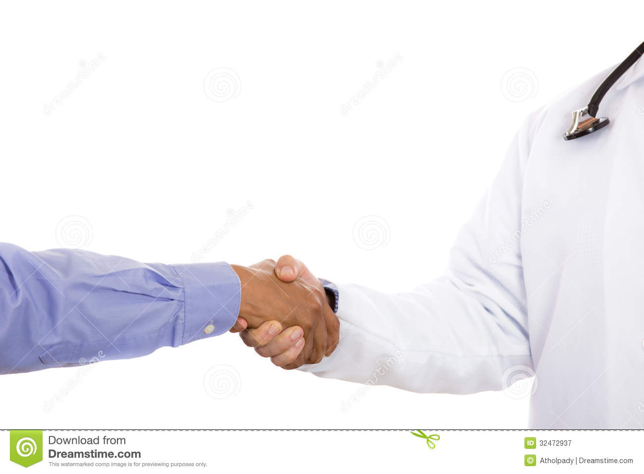 Handshake Between Doctor And Patient Stock Image - Image of blood