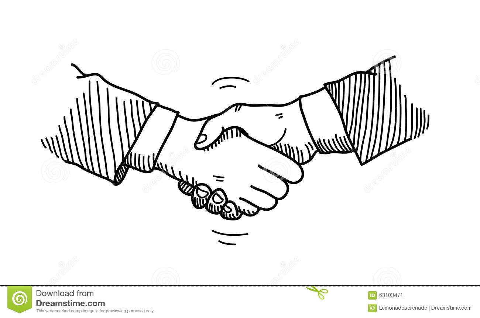 Handshake Doodle Stock Vector - Image: 63103471