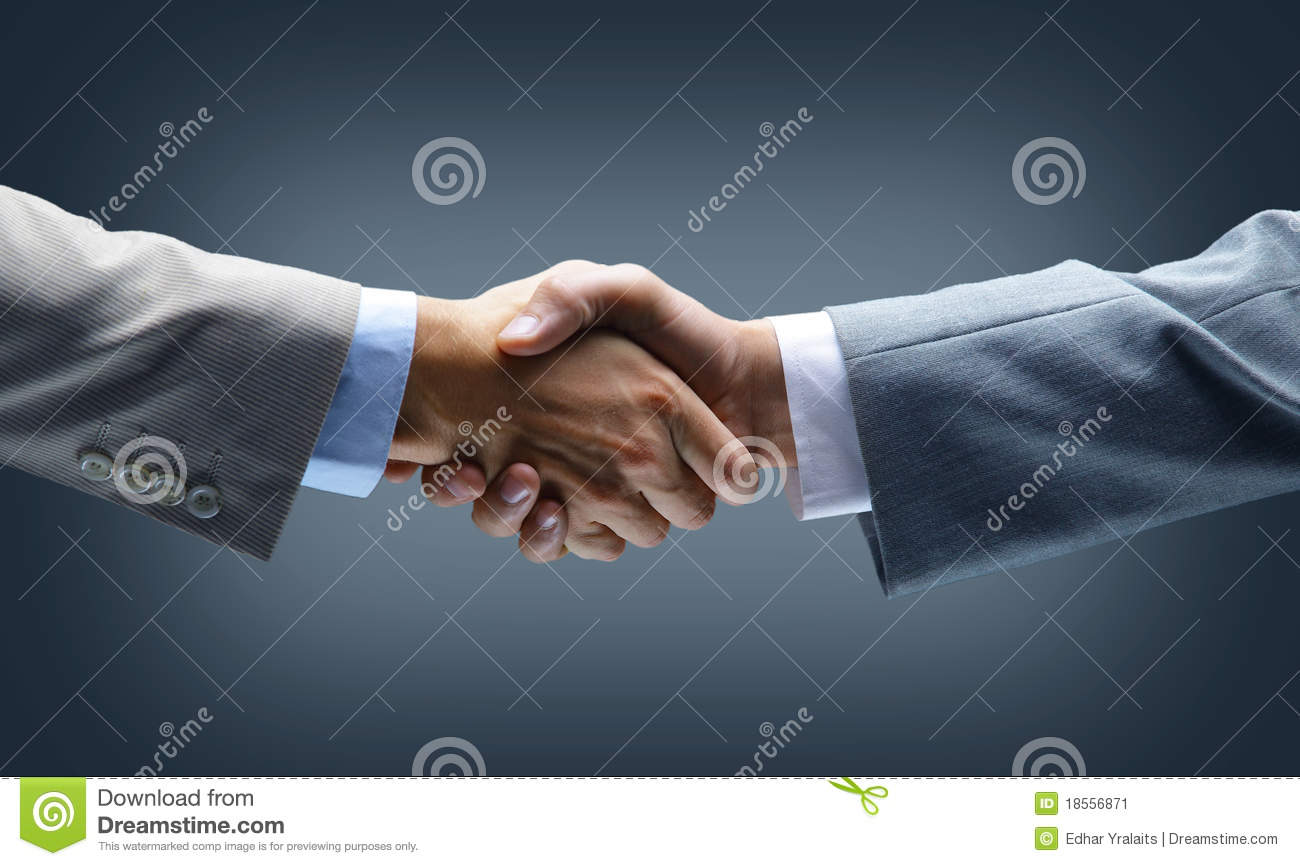 Handshake - Hand holding on