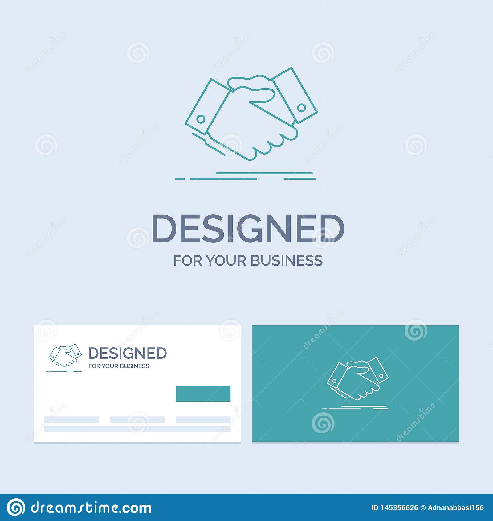 handshake, hand shake, shaking hand, Agreement, business Business Logo Line Icon Symbol for your business. Turquoise Business