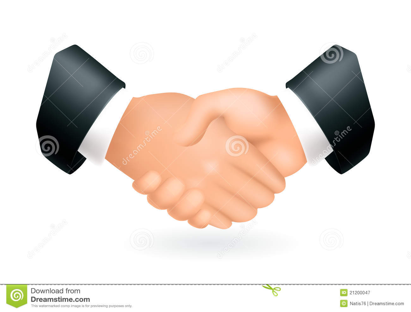 Handshake, icon stock vector  Illustration of business - 21200047