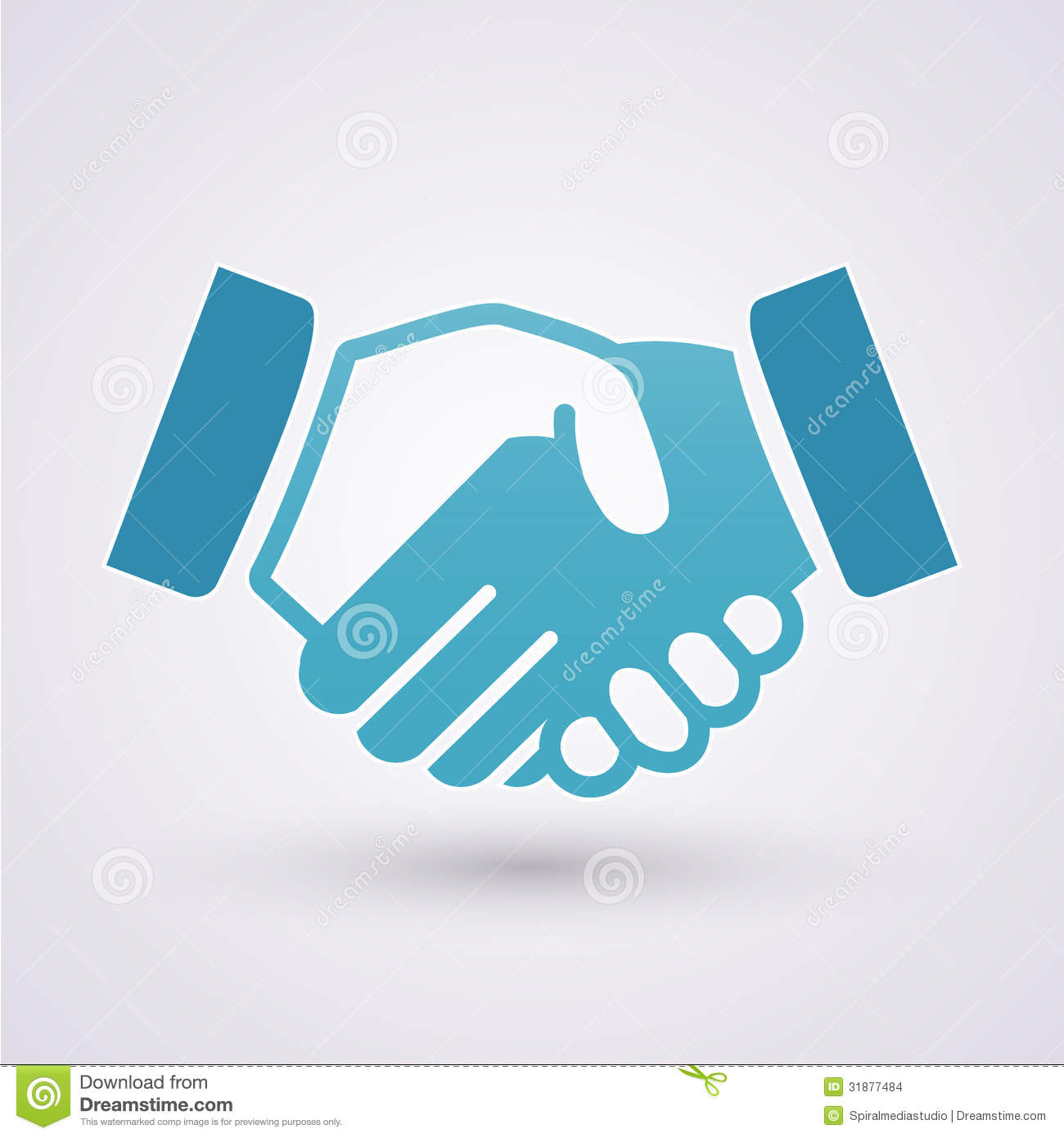 Handshake icon. Business concept background.