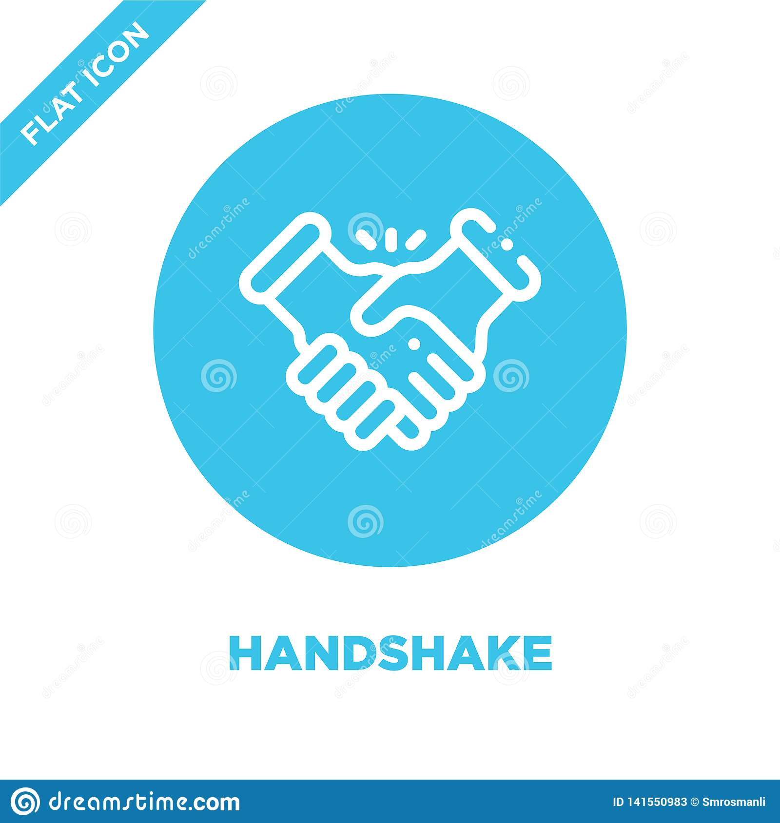 handshake icon vector. Thin line handshake outline icon vector illustration.handshake symbol for use on web and mobile apps, logo