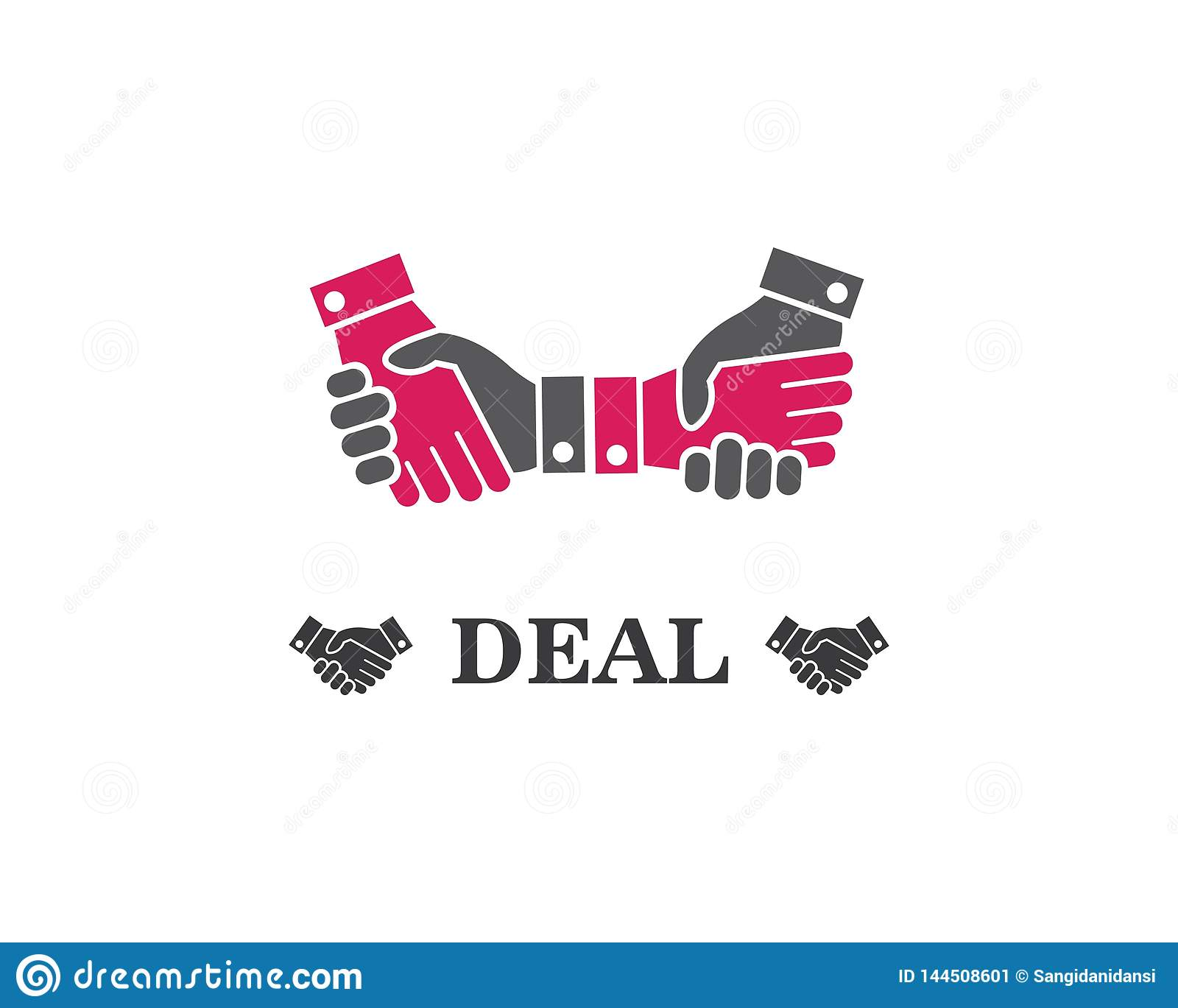 handshake logo vector icon of business agreement