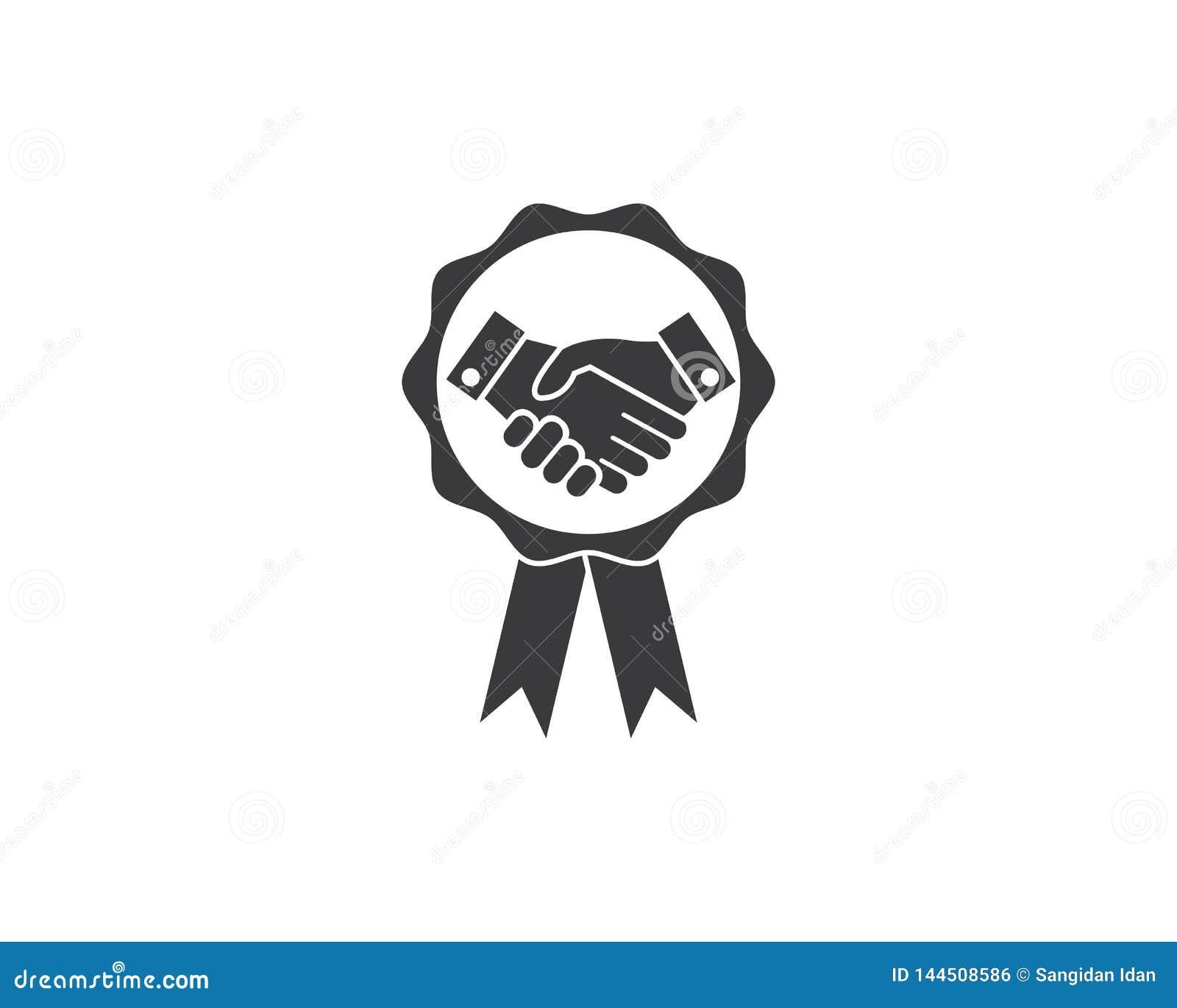 handshake logo vector icon of business agreement