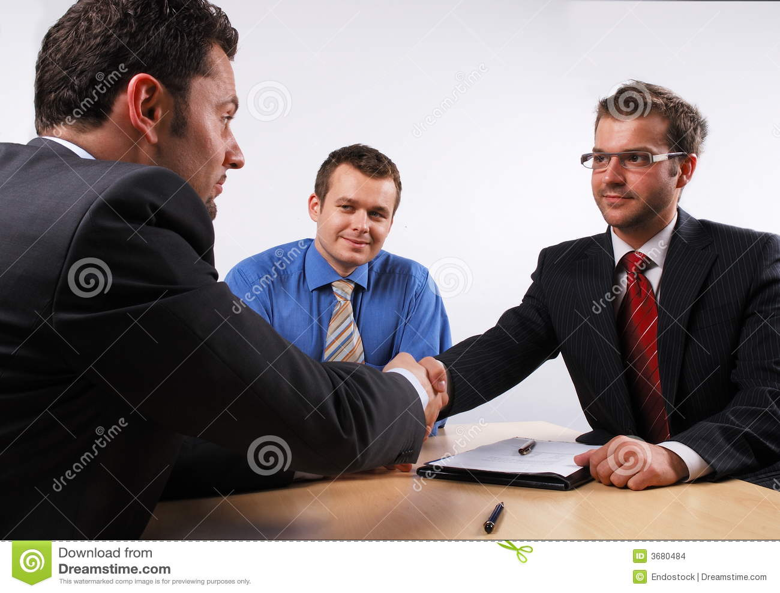 Handshake over signed cotract