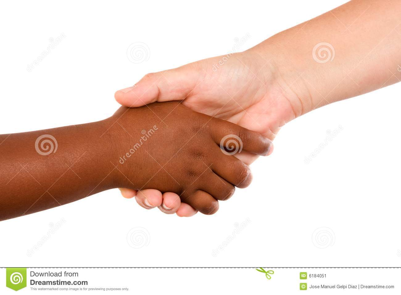 Handshake between races