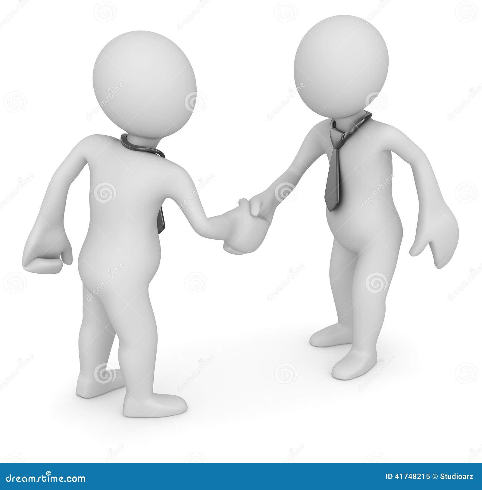 Handshake of two businessmans