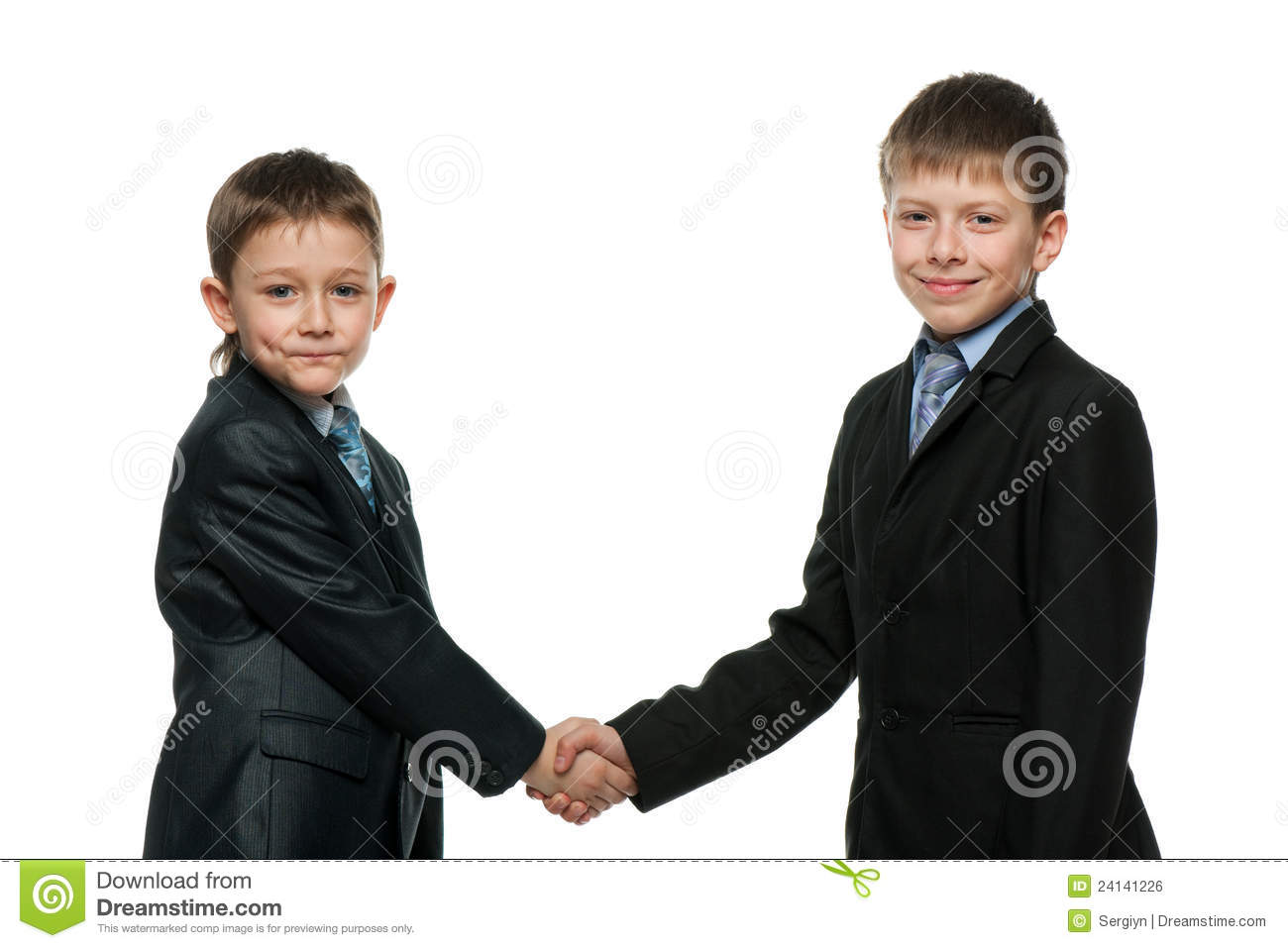 Two schoolboys get to know each other