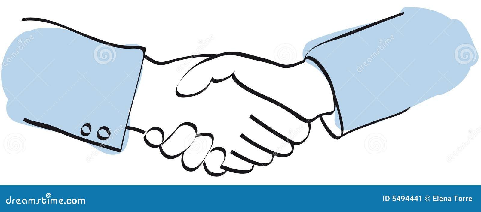 Handshake Vector Stock Image - Image: 5494441