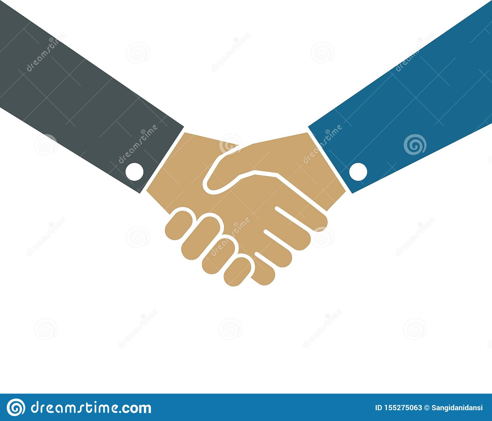 handshaking logo vector icon of business agreement