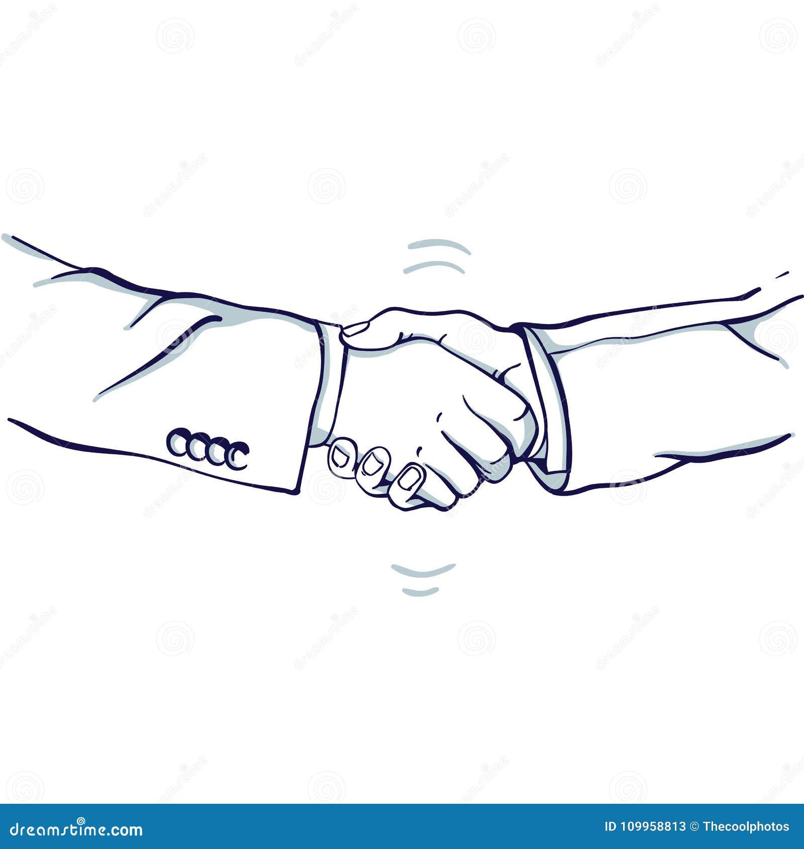 Handskakning av affärsman två