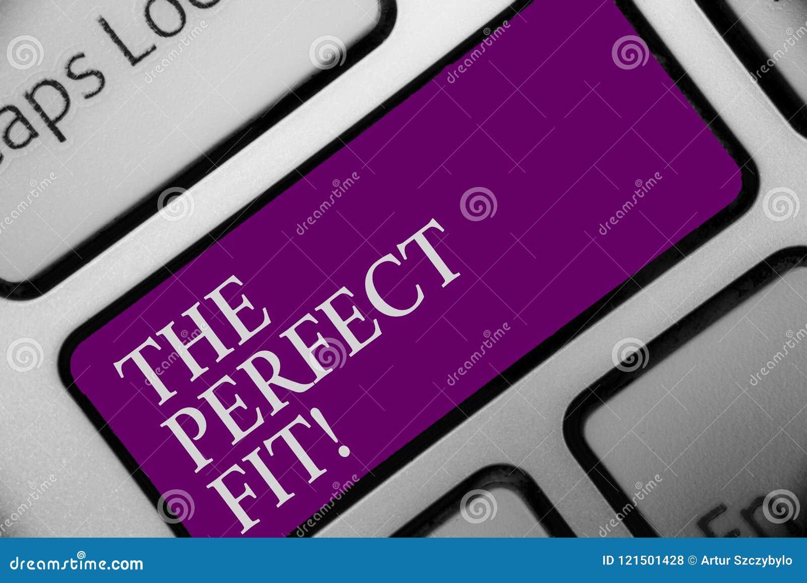 Handskrifttext den perfekta passformen Stycken för begreppsbetydelsepusslet som passar den bra knappen för tangentbordet för team