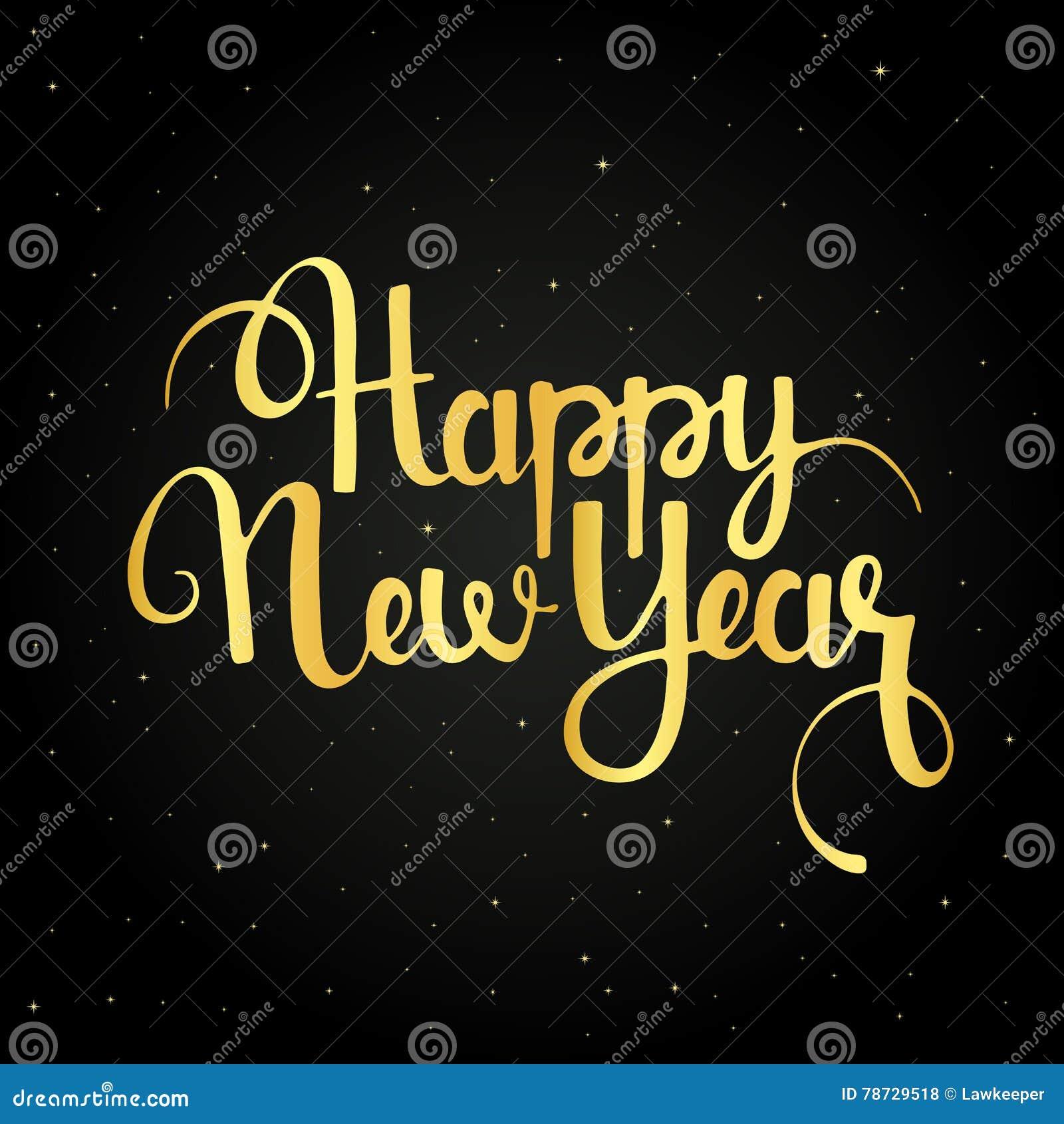 Handskriven bokstäver för lyckligt nytt år