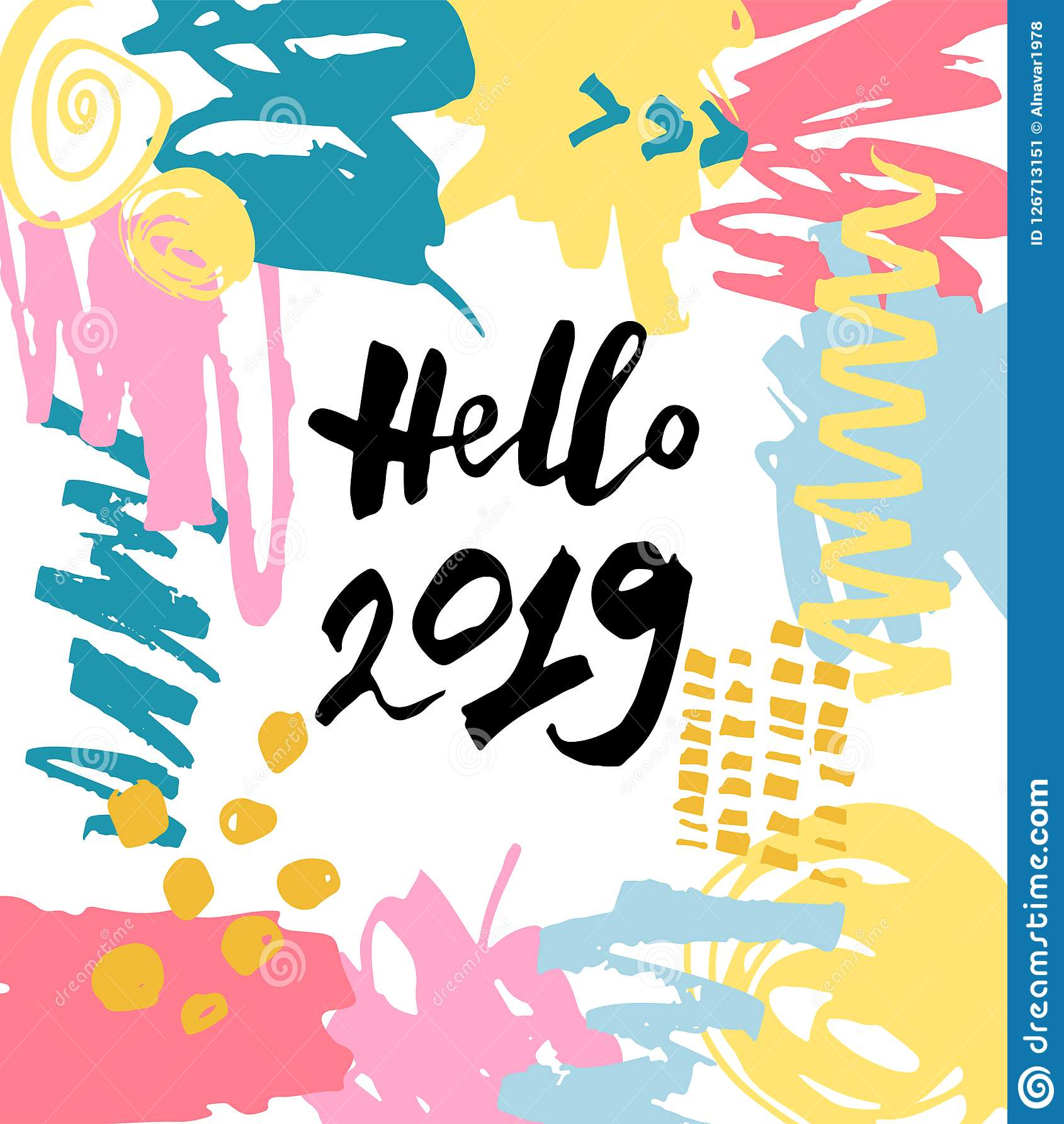 Handskriven Hello 2019