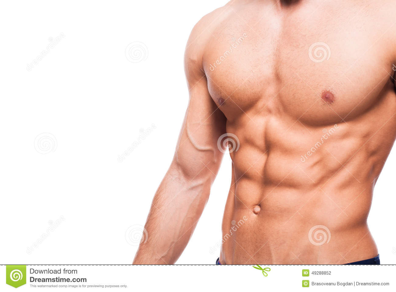 Naked athletic body Handsome Adult Man With Healthy Athletic Body Half Naked On White Background Stock Photo Image Of Adult Athlete 49288852
