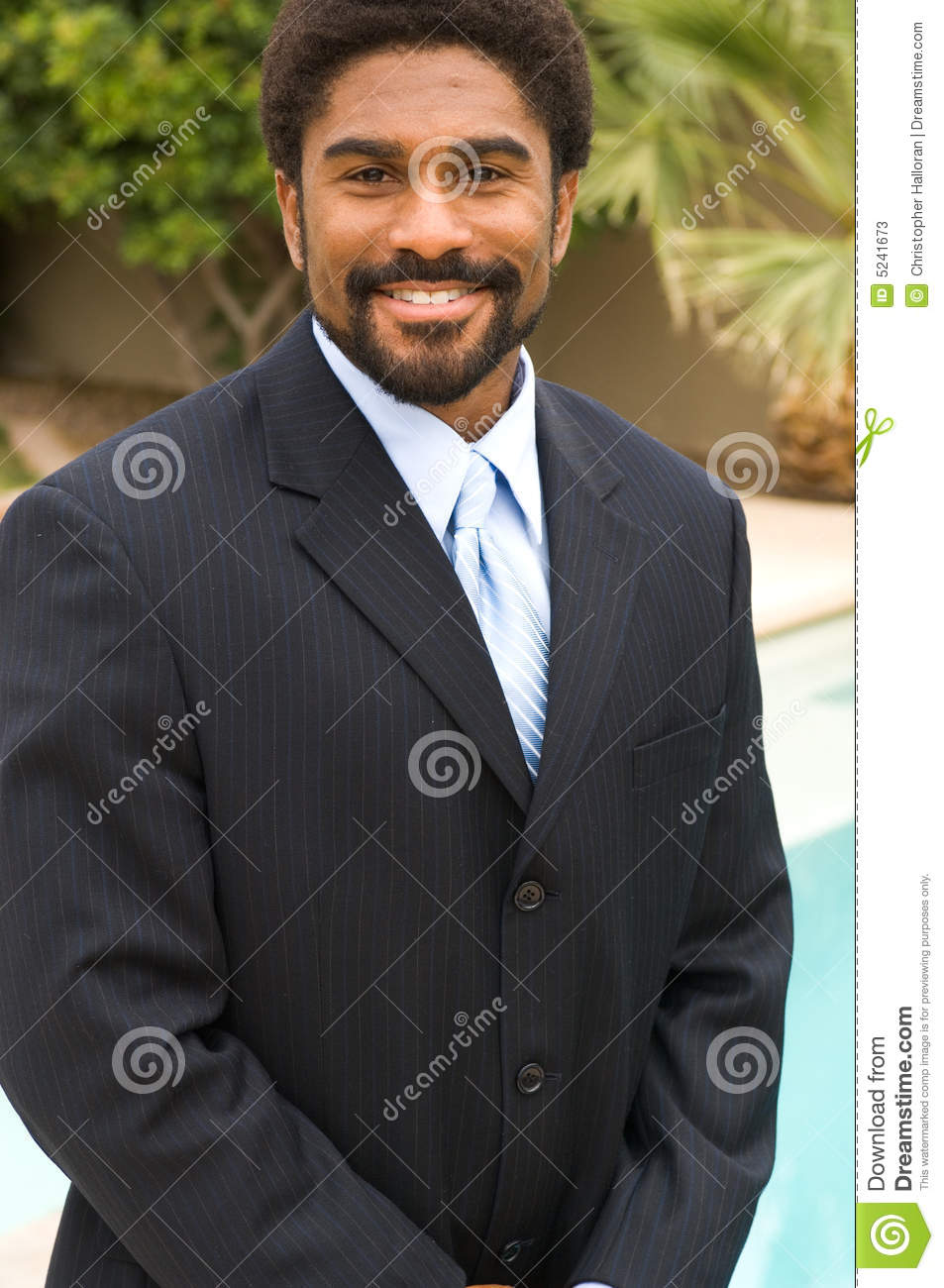 Handsome African-American man