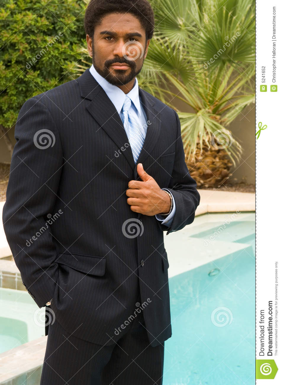 Handsome African-American man in suit