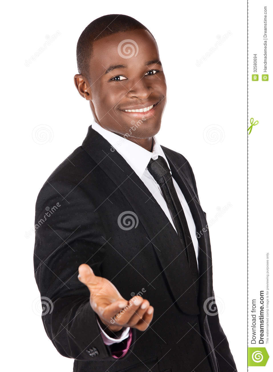 Handsome young successful african businessman wearing a formal black    Handsome Businessman Successful