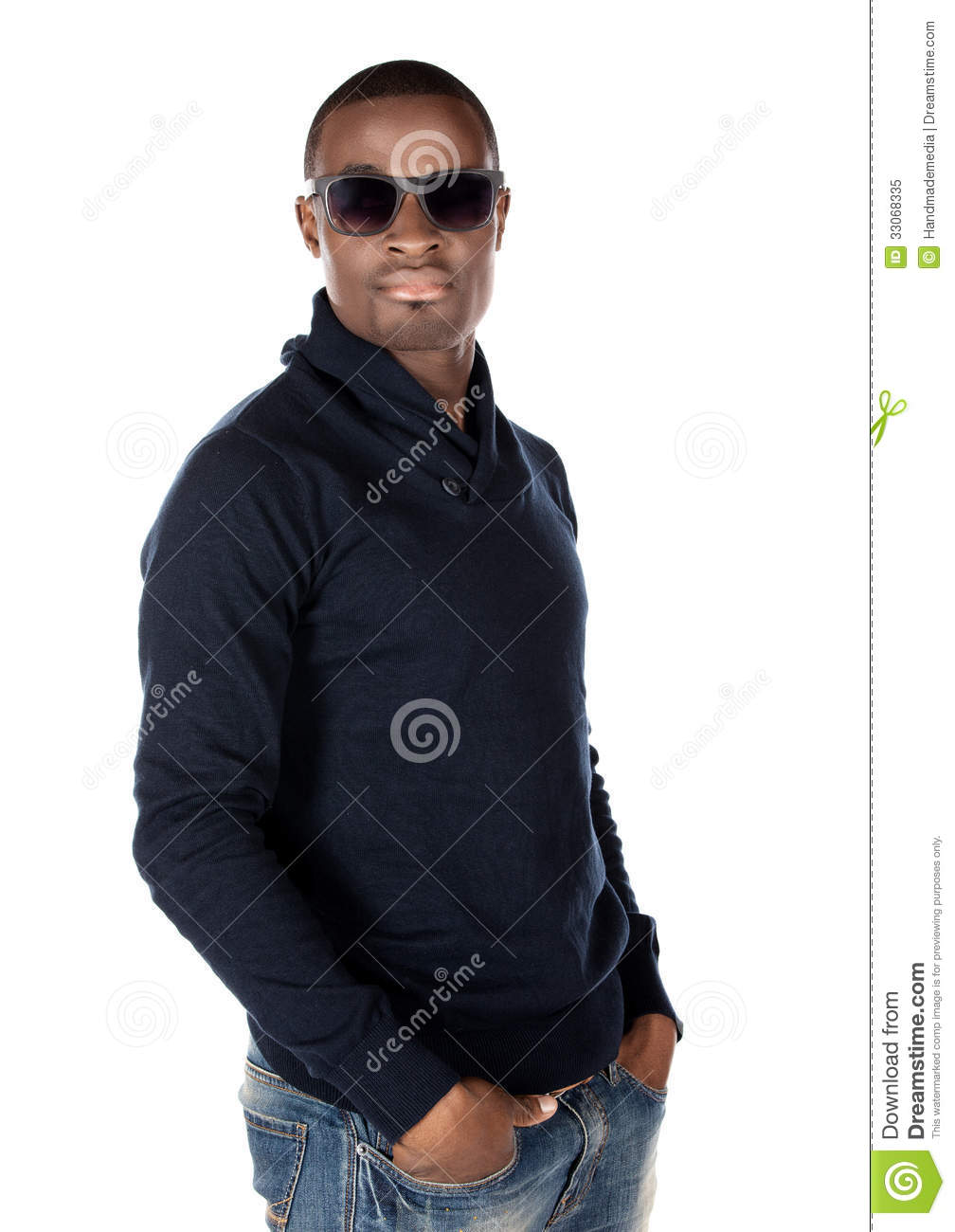 Handsome african man stock image. Image of people, jersey ...